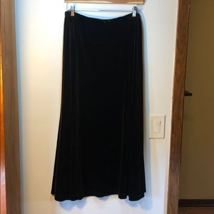 Laura Ashley dark brown velvet skirt